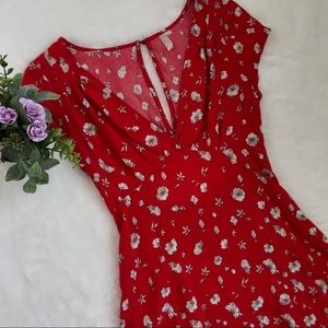 🆕Free People Floral Fit And Flare Dress